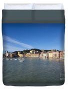 Sestri Levante With Blue Sky Duvet Cover