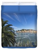 Sestri Levante With Palm Tree Duvet Cover
