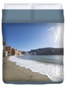 Sestri Levante With The Beach Duvet Cover