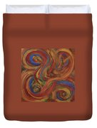 Set To Music - Original Abstract Painting Painting - Affordable Art Duvet Cover