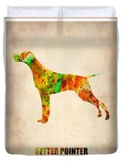 Setter Pointer Poster Duvet Cover
