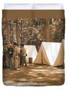 Settin Up Camp Duvet Cover