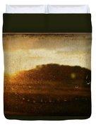 Setting Sun Abstract Duvet Cover