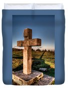 Setting Sun On A Cross By The Trenches Duvet Cover