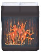 Setting The Stage On Fire Duvet Cover