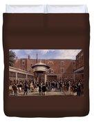 Settling Day At Tattersalls, Print Made Duvet Cover