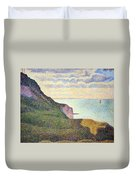 Seurat's Seascape At Port Bessin In Normandy Duvet Cover