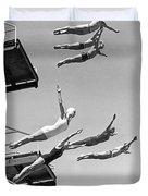 Seven Champion Diving In La Duvet Cover