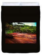 Seven Colored Earth In Chamarel 3. Mauritius Duvet Cover