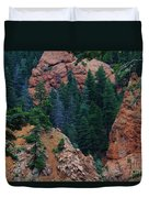 Seven Falls Mountain's Colorado Duvet Cover by Robert D  Brozek
