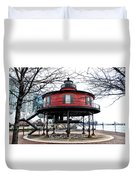 Seven Foot Knoll Lighthouse - Baltimore Duvet Cover