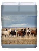 Seven Horses On The Range Duvet Cover