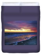 Seven Minutes On The Beach Duvet Cover