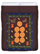 Seven Of Pentacles Duvet Cover