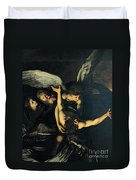 Seven Works Of Mercy Duvet Cover by Caravaggio