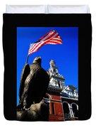 Sevierville Tenn Courthouse Eagleagle Duvet Cover