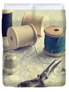 Sewing Cotton Duvet Cover by Amanda Elwell