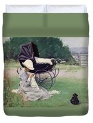 Sewing In The Sun, 1913 Duvet Cover