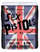 Sex Pistols First Us Appearance Duvet Cover