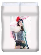 Sexy Girl On Moving Duvet Cover