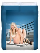 Sexy Woman Duvet Cover