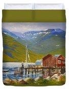 Seydisfjordur Wharf Duvet Cover