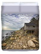 Shack On The Sound Duvet Cover