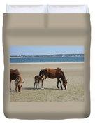 Shackleford Banks Foal Duvet Cover