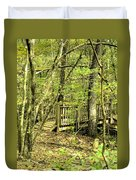 Shades Mountain Bridge In The Forest Duvet Cover