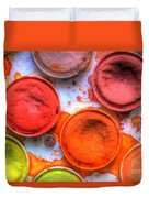 Shades Of Orange Watercolor Duvet Cover by Heidi Smith