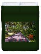Shadow Alley In Sun Island Resort. Maldives  Duvet Cover