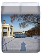 Shadow In The Snow Duvet Cover