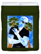 Shadow Man Palm Springs Duvet Cover