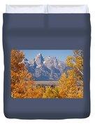 Shadow Mountain Grand Teton National Park Duvet Cover