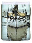 Shadow Of Boat Duvet Cover