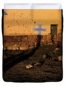 Shadow Of Cross Peru Duvet Cover