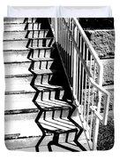 Shadow Of Handrail Duvet Cover