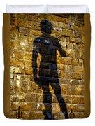 Shadow Of Michaelangelo's David Duvet Cover