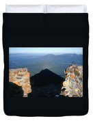 M-05715-shadow Of Mt. Mcloughlin Duvet Cover