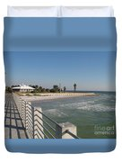 Shadow On The Pier Duvet Cover