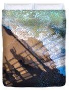 Shadows Day At The Beach Duvet Cover