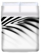 Shadow Zen. Palm Leaf. Monochrome Duvet Cover by Jenny Rainbow