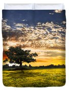Shadows At Sunset Duvet Cover