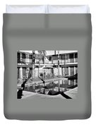 Shadows In Paradise Palm Springs Duvet Cover by William Dey