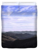 Shadows Of The Mountains Duvet Cover