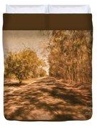 Shadows On Autumn Lane Duvet Cover
