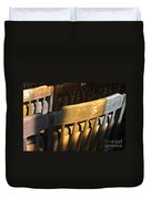 Shadows On Chairs Duvet Cover