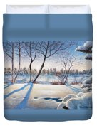 Shadows On The Snow Duvet Cover