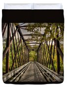 Shadows On The Walking Bridge Duvet Cover
