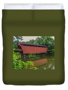 Shaeffer Or Campbell Covered Bridge Duvet Cover